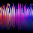 3d sound waves spectrum background — Stock Photo