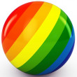 3d sphere with color stripes — Stockfoto