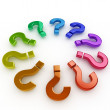 3d question mark circle - Stock Photo