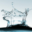 Stock Photo: 3d close up of water crown