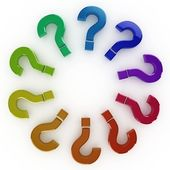 3d question mark circle — Stock Photo