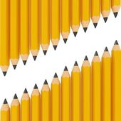 3d black pencils — Foto Stock