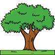 Stock Vector: Cartoon tree