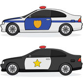 Police cars — Stock Vector