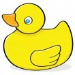 rubber duck&quot — Stock Vector