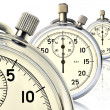 Three mechanical stopwatch — Foto de Stock