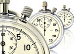 Three mechanical stopwatch — Stock Photo
