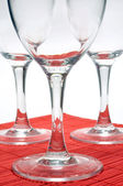 Three glasses — Stockfoto