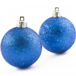 Two Christmas baubles — Stock Photo #4144938