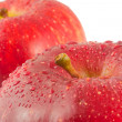 Red apples, macro — Stock Photo