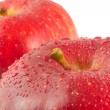 Foto Stock: Red apples, macro