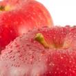 manzanas rojas, macro — Foto de Stock