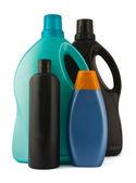 Four plastic bottles — Stock Photo