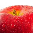 Red apple, macro — Stock fotografie