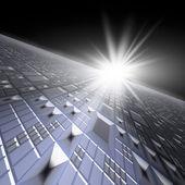 Technology Background Horizon — Stock Photo