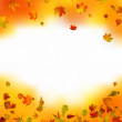 Royalty-Free Stock Vector Image: Autumn card of bright multicolor leaves. EPS 8 vector file included