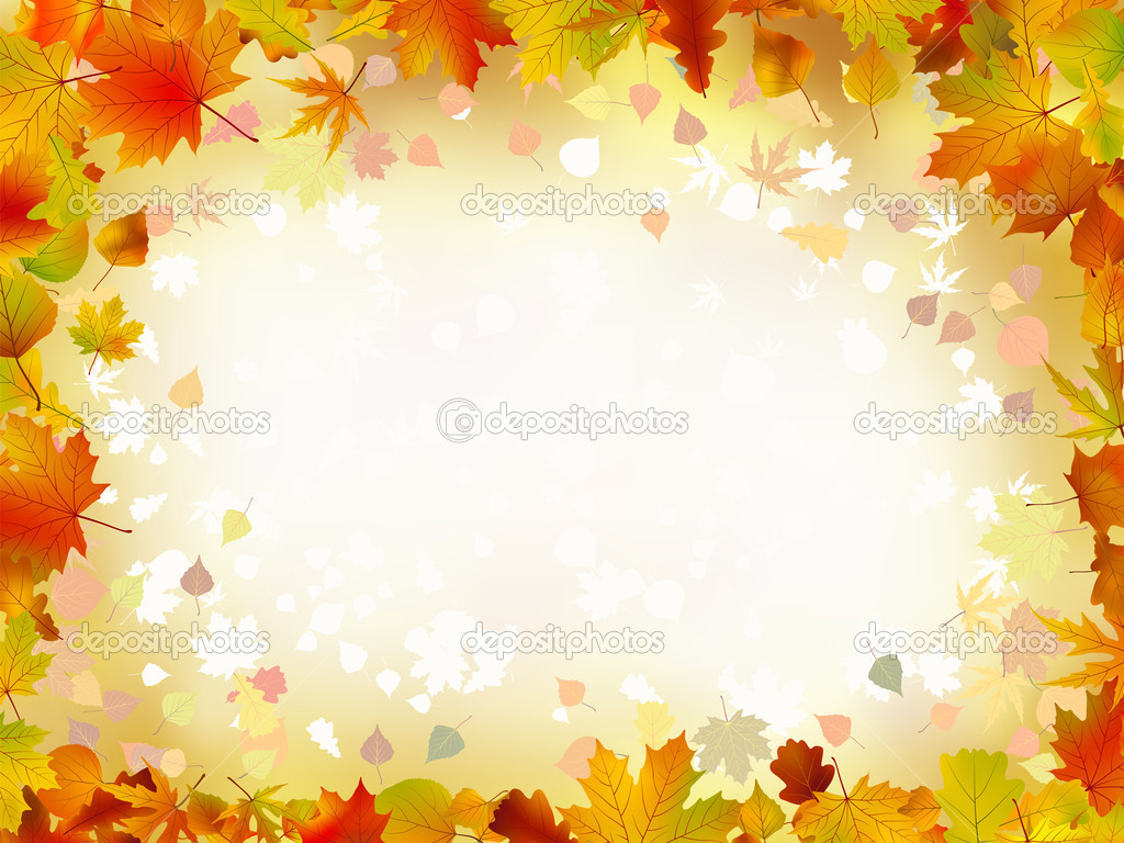 Autumn Leaves Border For Your Text Stock Vector 3972501