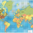 World Map. — Stockvectorbeeld