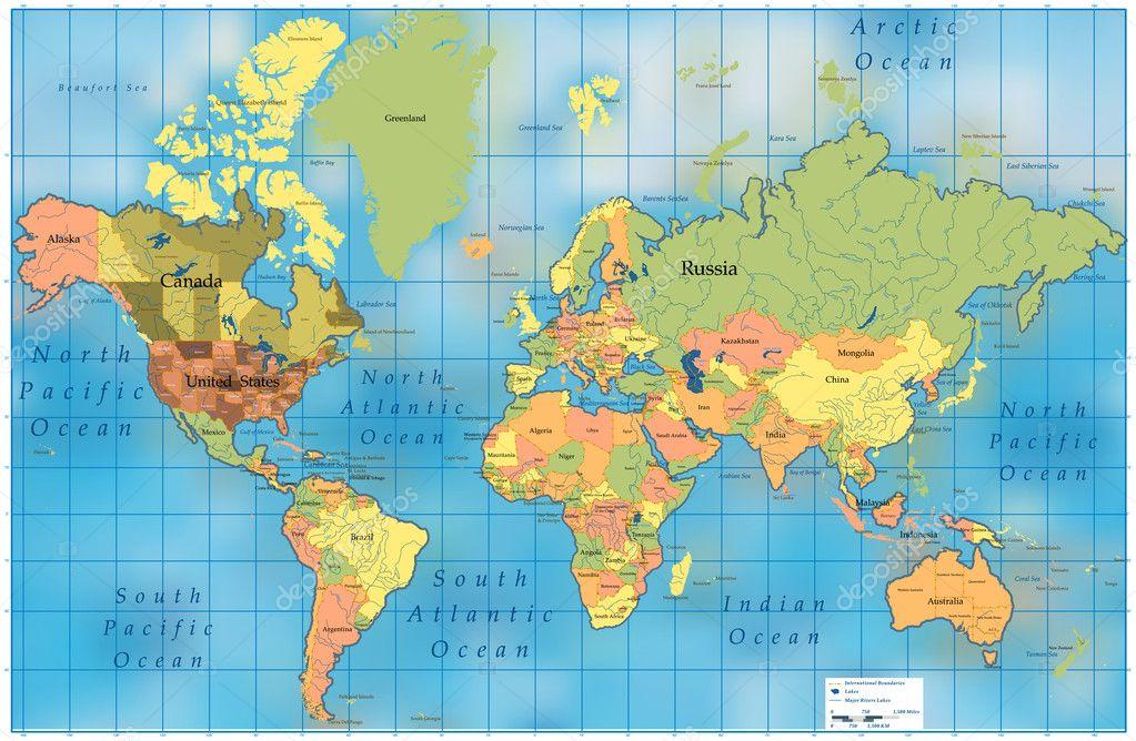 世界地图 — 图库矢量图像08