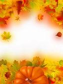 Sfondo autunnale di caduta del ringraziamento — Vettoriale Stock