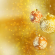 Gold shiny Christmas background. — Image vectorielle