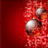 Fundo elegante de Natal feliz. — Vetor de Stock