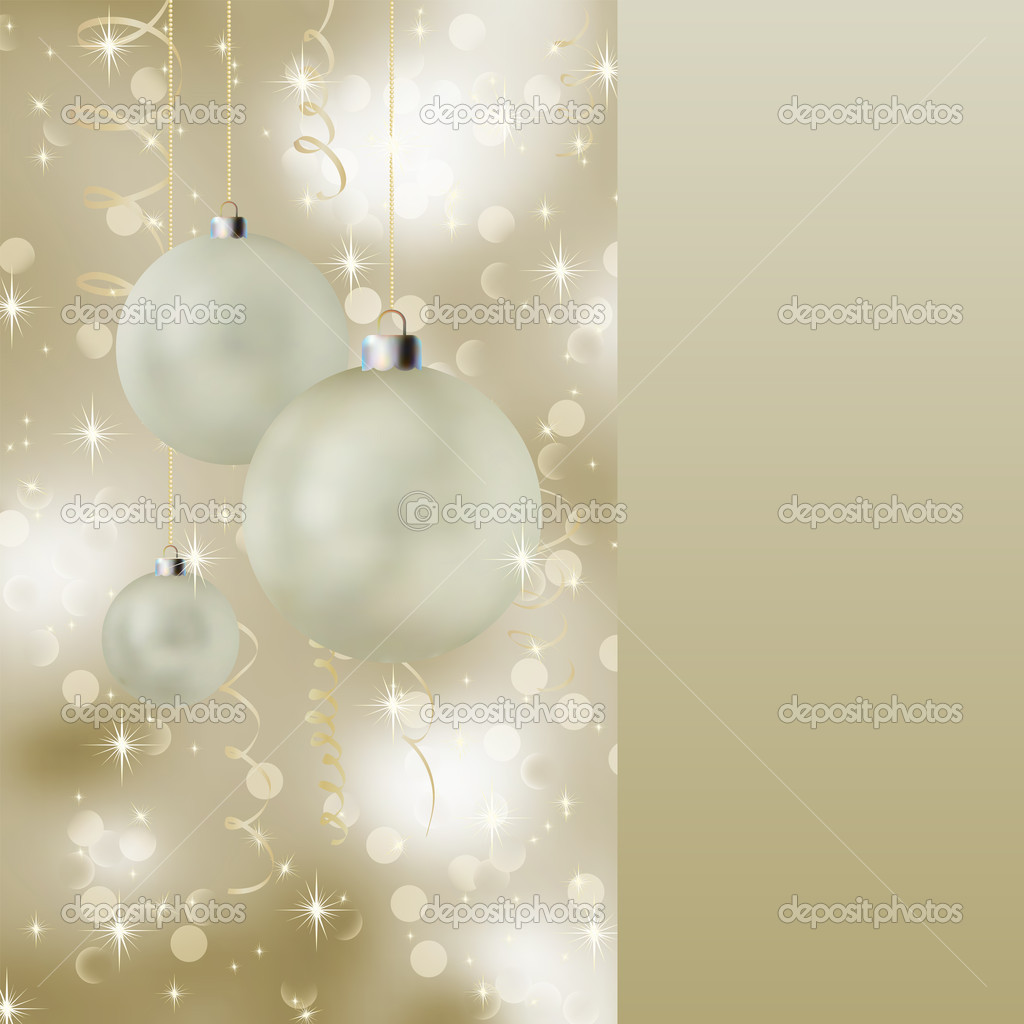 Soft light christmas background with neutral colors. EPS 8 vector file included — Stock Vector #4180489