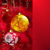 Merry christmas card. — Stockvektor
