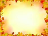 Marco de hojas de otoño — Vector de stock