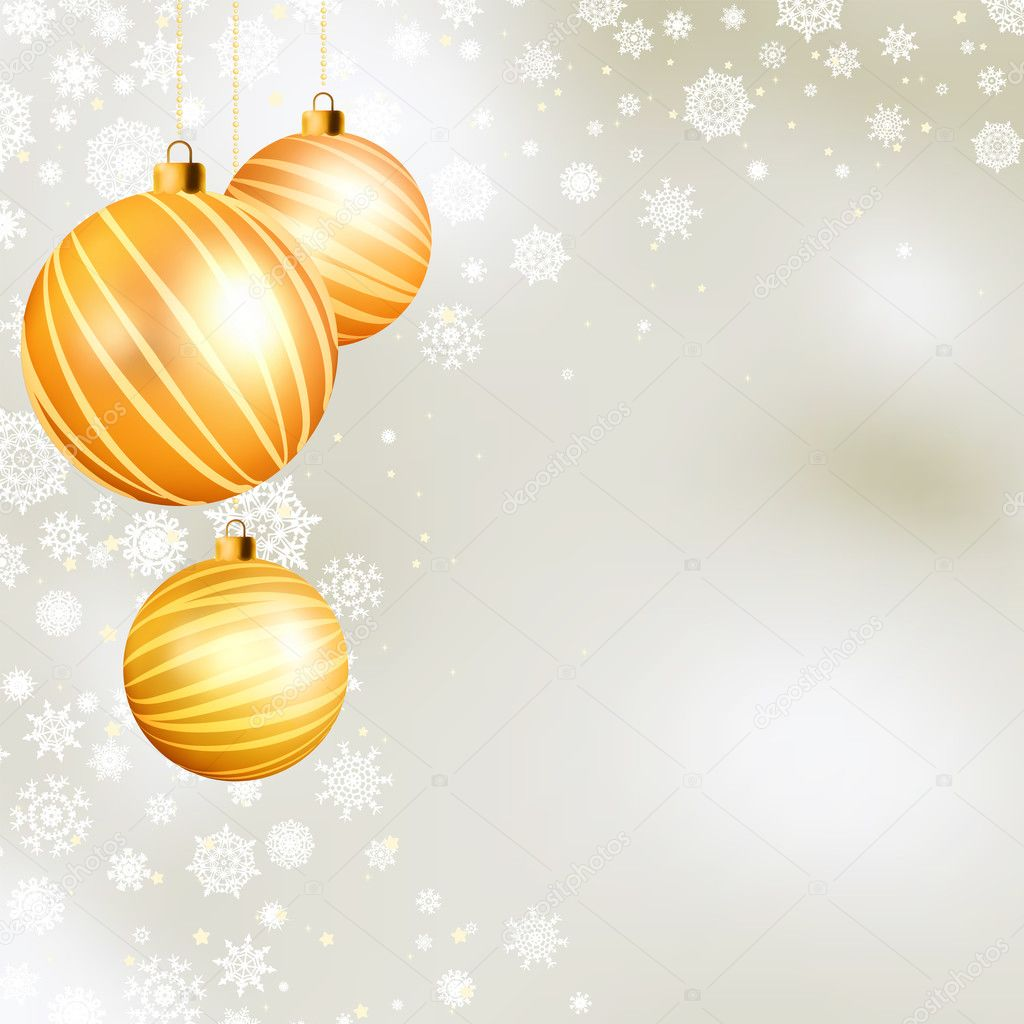 Gold christmas ball. EPS 8 vector file included  Stockvektor #4235853