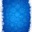 Royalty-Free Stock Vector Image: Blue christmas background with snowflakes. EPS 8