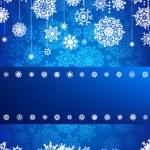 Christmas card with christmas snowflake. EPS 8 — Stock Vector
