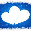 Snow frame in the shape of heart. EPS 8 - Stok Vektör