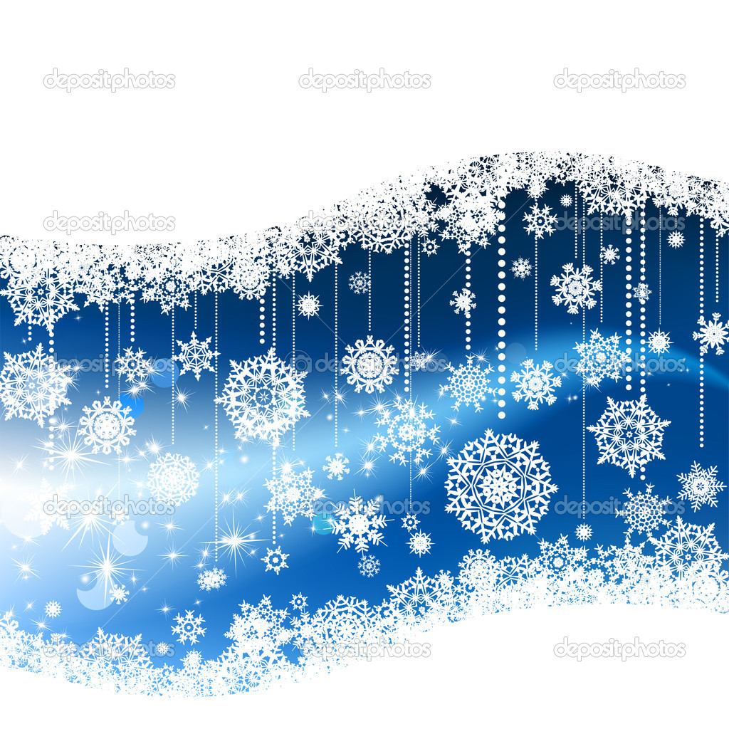 Blue winter background  — Stock Vector #4283276