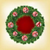 Christmas garland. EPS 8 — Stock Vector