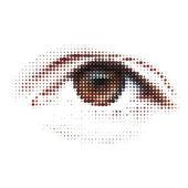 Digital - Auge. abstract Illustration. EPS 8 — Stockvektor