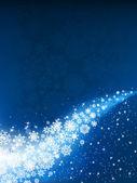 Fond bleu hiver — Vecteur