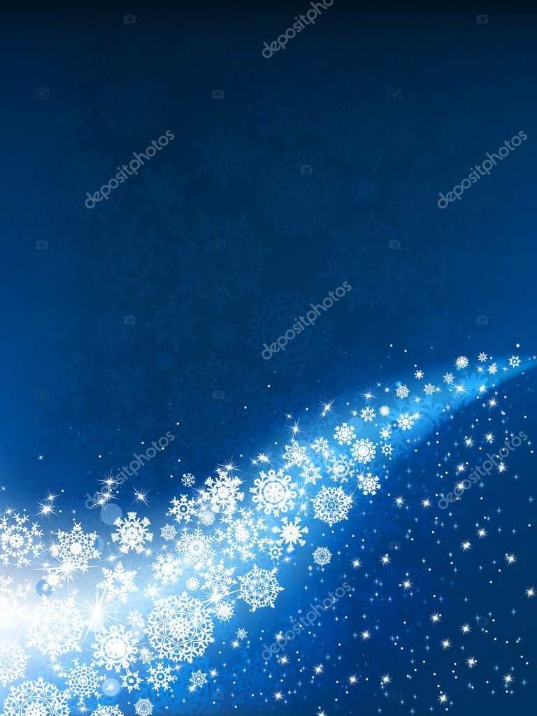 Blue winter background  — Stock Vector #4327241