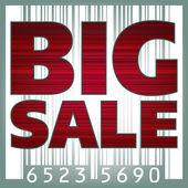 Big sale barcode illustration. EPS 8 — Stock Vector