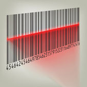Bar code with laser light. EPS 8 — Stock Vector