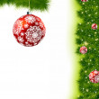 Thank You Card With A Christmas Balls — Imagens vectoriais em stock