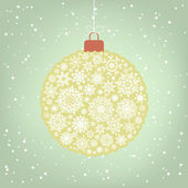 Beautiful Christmas ball illustration. EPS 8 — Stock Vector