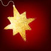 Cartão postal com uma estrela de ouro brilhante. eps 8 — Vetor de Stock