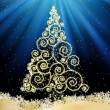 New Year template with Christmas tree. EPS 8 — 图库矢量图片