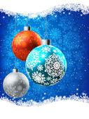 Elegant Blue Christmas Card. EPS 8 — Stock Vector