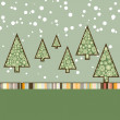 Retro Christmas Card Template. EPS 8 — Imagen vectorial