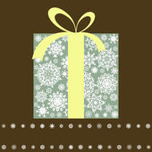 Retro gift box with bow. EPS 8 — Vector de stock