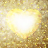 Altın çerçeve kalp şeklinde. eps 8 — Stok Vektör