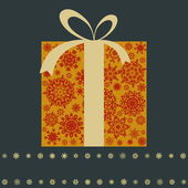 Retro gift box with bow. EPS 8 — Stockvector