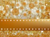 Crastmas card mosaic with light. EPS 8 — Stock Vector